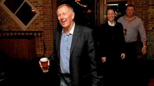 John Singleton at the opening of the APF-owned Malborough Hotel Garden Bar in Newtown, in May 2013.