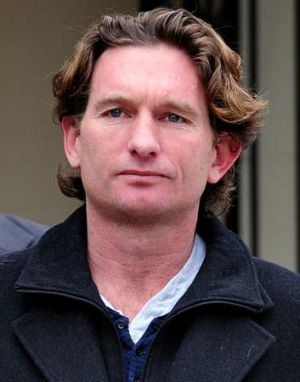 Banned: Bombers suspended coach James Hird.