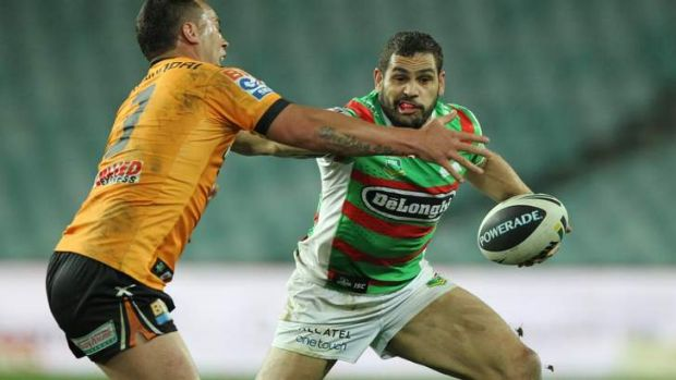 On the run: Greg Inglis lights the afterburners.