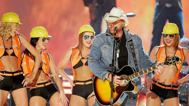 Toby Keith performs at the 42nd Annual Academy of Country Music Awards in 2007 in Las Vegas.