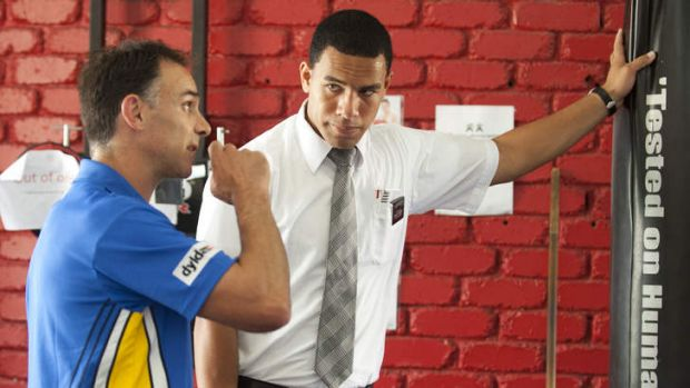 Dedicated: William Hopoate in his role as a Mormon.