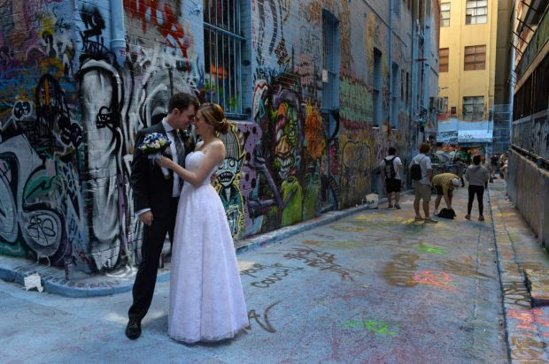 Ben and Rachel Drysdale, who visited Rutledge Lane on their wedding day.
