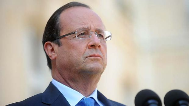 """""""France is ready"""": French President Francois Hollande."""