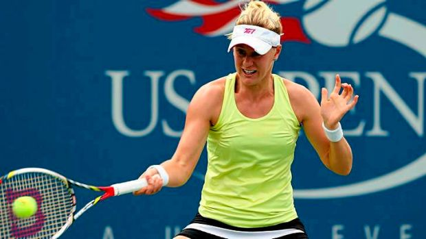 Riske business: Alison Riske of the United States has bundled out former Wimbledon champion Petra Kvitova.