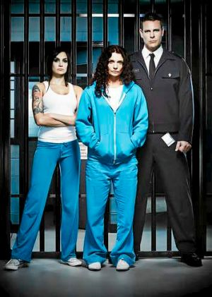 In Wentworth Prison: Franky Doyle (Nicole da Silva, left); Bea Smith (Danielle Cormack) and Matthew 'Fletch' Fletcher ...