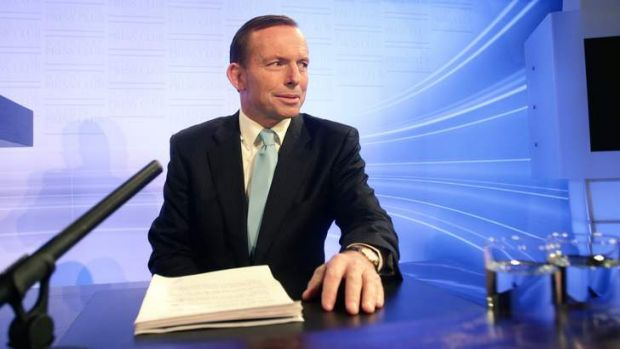 Tony Abbott addresses the National Press Club of Australia.