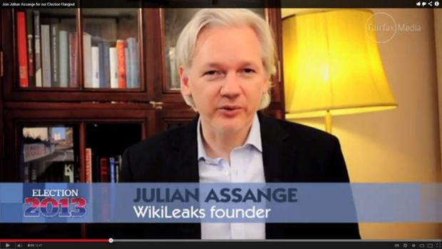 Challenge: Julian Assange, a Senate candidate at the federal election, wants Swedish police to investigate US ...