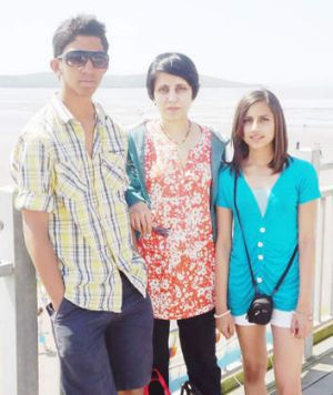 Jacintha Saldanha and her children.