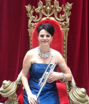 """Queensland Symphony Orchestra's """"Queen of Trumpets"""" Sarah Wilson at the 2014 Season Launch in Brisbane."""