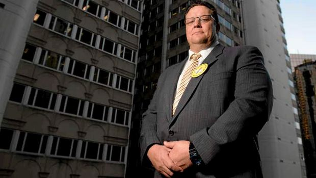High-profile candidate: Glenn Lazarus in Brisbane on Tuesday.