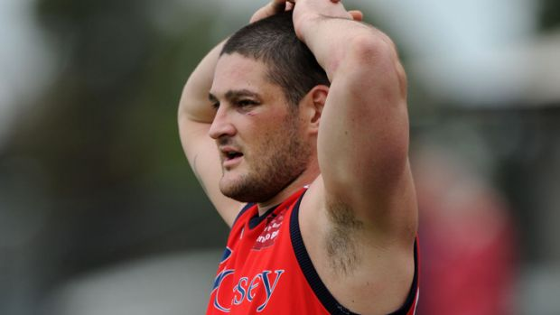 Brendan Fevola on the field for the Casey Scorpions in 2011.
