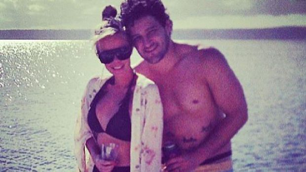 Back together?: Brendan Fevola and wife Alex holidayed in Vanuatu in August.