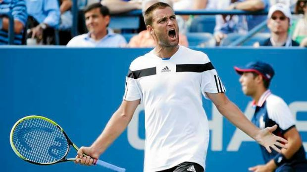 Mikhail Youzhny, of Russia, has triumphed against Lleyton Hewitt during the fourth round of the 2013 US Open.