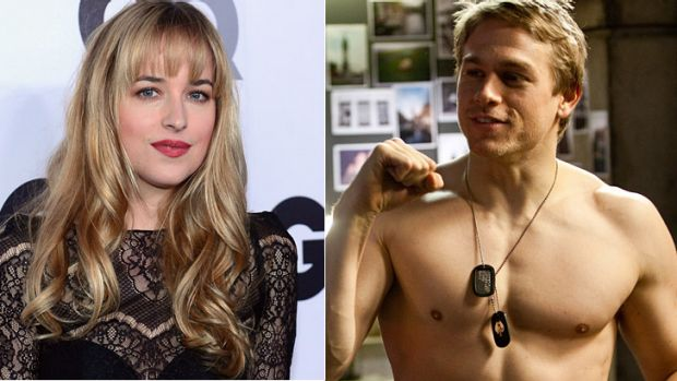Dakota Johnson and Charlie Hunnam have been chosen to portray the central couple in the film adaptation of <i>Fifty ...