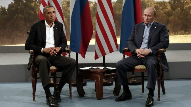 US President Barack Obama meets with Russian President Vladimir Putin during the G8 Summit at Lough Erne in Enniskillen, ...