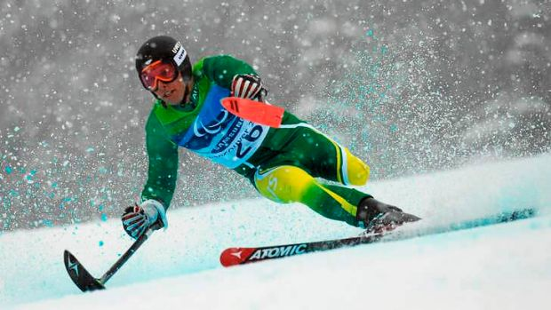 Cameron Rahles-Rahbula competes in the 2010 Vancouver Winter Paralympics.