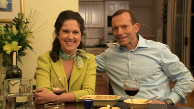 Tony Abbott and Annabel Crabb on Kitchen Cabinet.