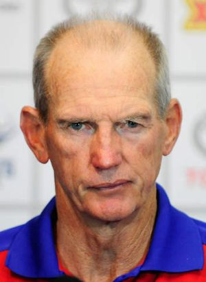 """""""We're not under too much pressure to play all of our top-line players at the same time"""": Knights coach Wayne Bennett."""
