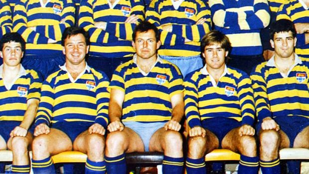 Tony Abbott playing for Sydney University fourth grade premiers in 1986.