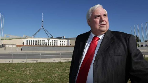 Clive Palmer from Palmer United Party.