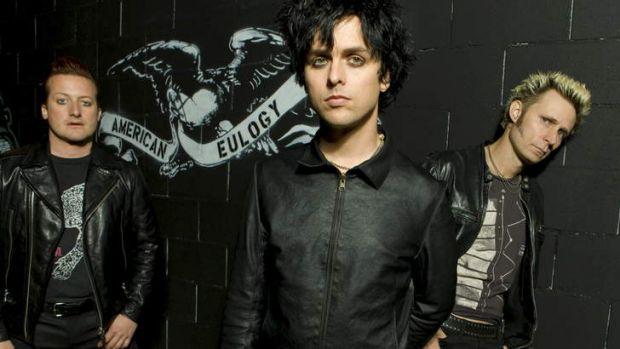 Green Day's, left to right, Tre Cool, Billie Joe Armstrong and Mike Dirnt.