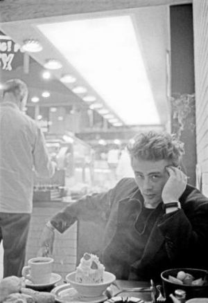 James Dean as photographed by Dennis Stock in New York City, 1955.