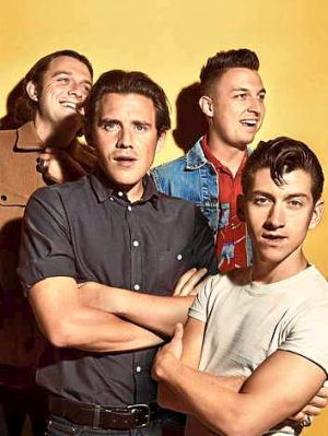 Way out west: Arctic Monkeys (from left) Nick O'Malley, Jamie Cook, Matt Helders and Alex Turner are revelling in their ...
