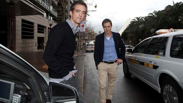 Ned Moorfield and Andrew Campbell's goCatch taxi booking app has received millions in investment funding.
