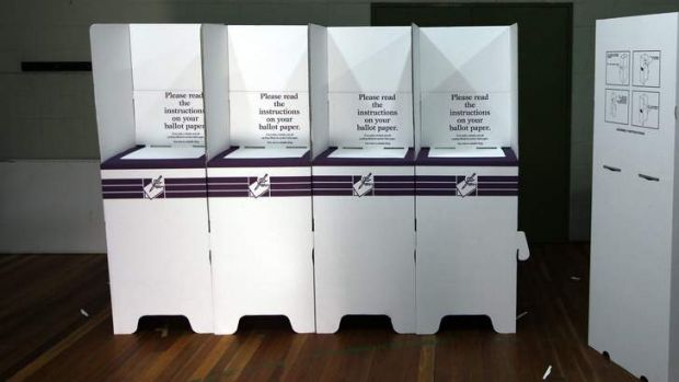 Ballot boxes and voting booths