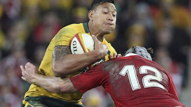 Still learning: Wallabies fullback Israel Folau.