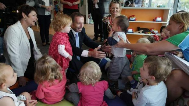 Slowing implementation of changes to childcare: Tony Abbott, leader of the Opposition.