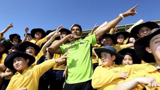 Reaching out: Sydney Thunder and NSW Blues paceman Gurinder Sandhu is having an impact with his school visits promoting ...