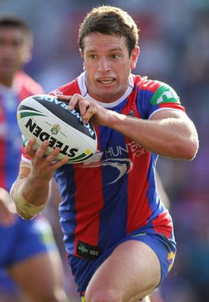 Last hurrah: Danny Buderus played his last game at Hunter Stadium in Sunday's thrashing of the Eels.