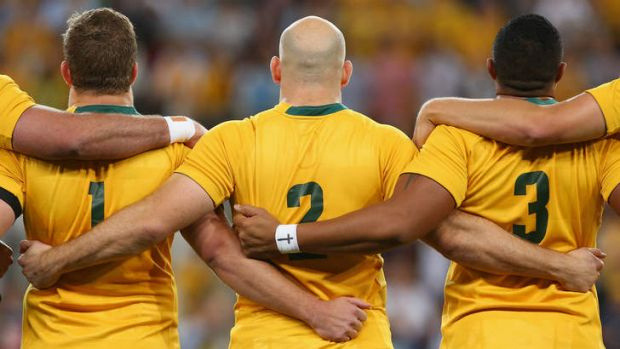 Power is king this year: James Slipper, Stephen Moore and Sekope Kepu of the Wallabies.
