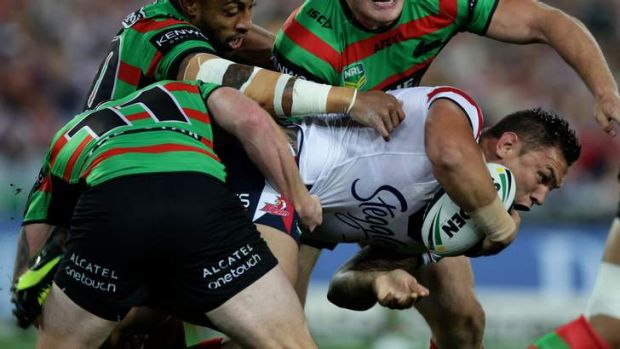 Costly blow: Jared Waerea-Hargreaves could miss a week.