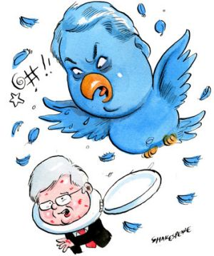 Feathers fly after Stephen Koukoulas lets rip over Rudd on Twitter.