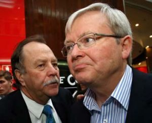 August 23:  Bruce Hawker and Kevin Rudd visited Westfield Penrith in Sydney.