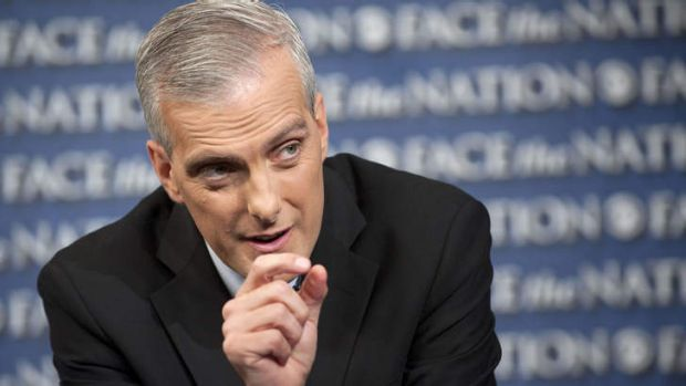 Not convinced: White House Chief-of-Staff Denis McDonough defends President Obama's Syria strike policy on CBS's Face ...