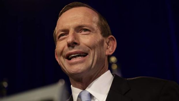 Tony Abbott during the Coalition official election night function.