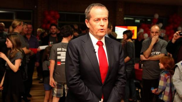 Waiting his turn: Bill Shorten.