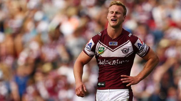 Grounded Sea Eagles: Manly couldn't get up for the game against the Panthers at the weekend.