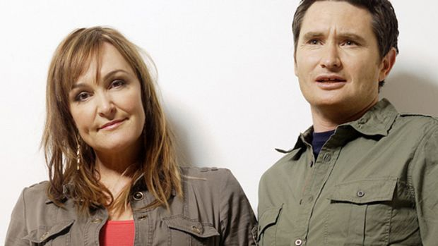 Quitting: Kate Langbroek and Dave Hughes will leave Nova after 12 years on air.