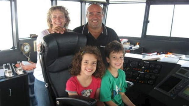 Sam and Lisa Chiodo with their children.