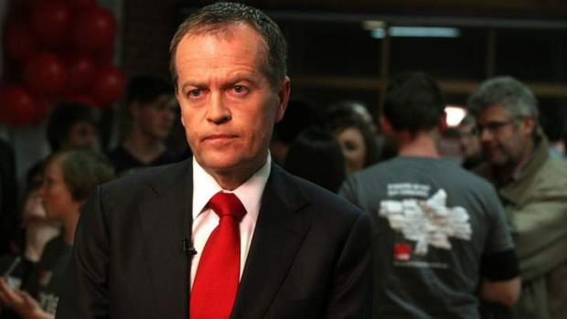 Bill Shorten at  Clifton Park Bowling Club on the night of Labor's loss in the 2013 election.