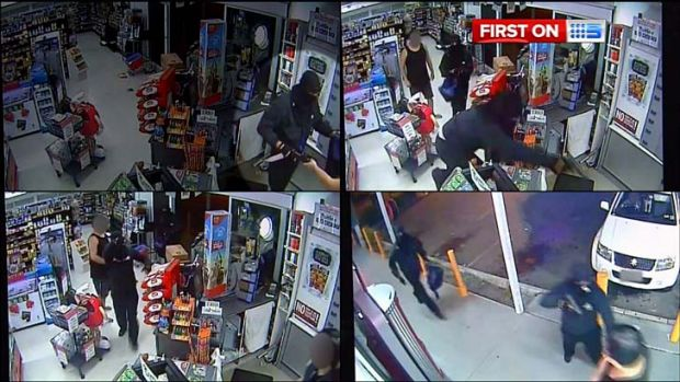 Armed robbers terrorise workers and customers at a Heritage Park store.