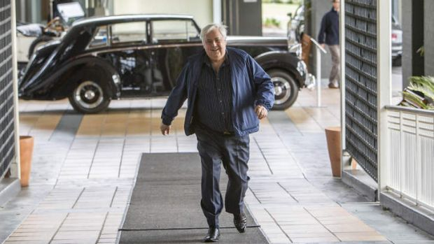 Palmer United Party founder Clive Palmer at his Coolum resort, which featured in ads during the election commericial ...