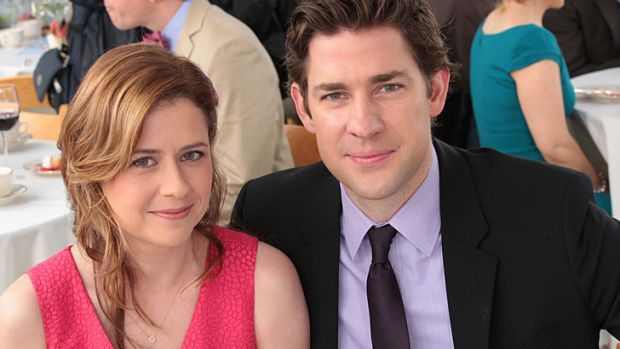 <i>The Office</i>, starring Jenna Fischer and John Krasinski, wraps on Australian television screens tonight.