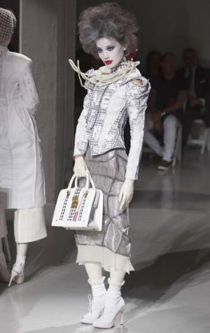 Catwalk: A model presents a creation during the Thom Browne Spring/Summer 2014 collection during New York Fashion Week.