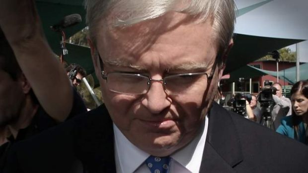 Outgoing Prime Minister Kevin Rudd: a ''destabilising influence''.