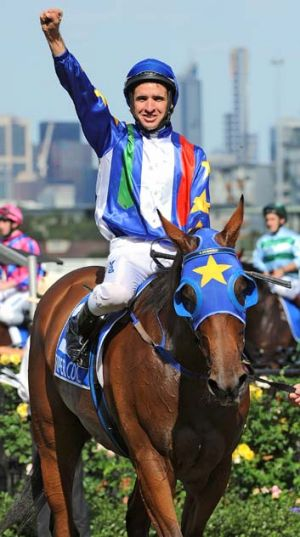 Michael Rodd and Super Cool after the Australian Cup in March.